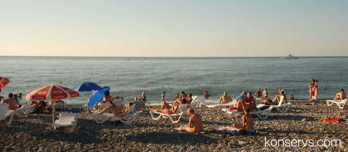 Типичный постсоветский пляж