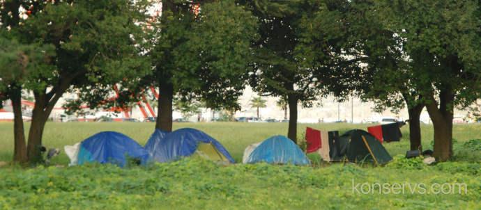 Палатки в Батуми