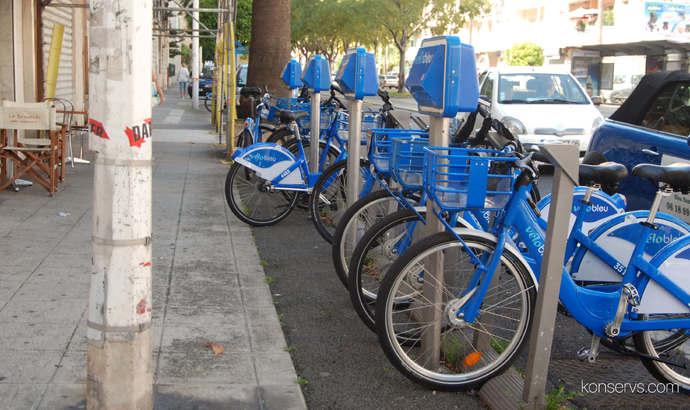 Велопарковки VeloBleu в Ницце