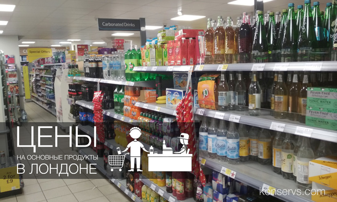 Цены на основные продукты в Лондоне