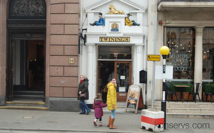 Магазин Twinings в Лондоне