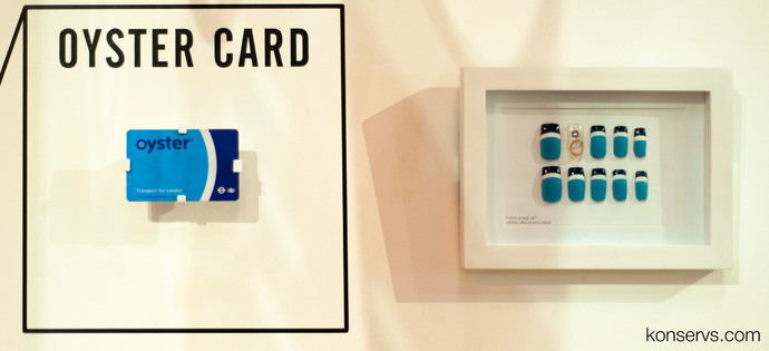 Oyster Card в виде карты и накладных ногтей в музее дизайна
