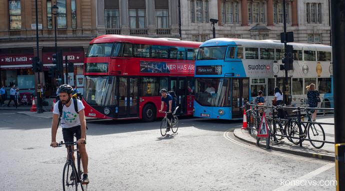 Велосипедисты в Лондоне